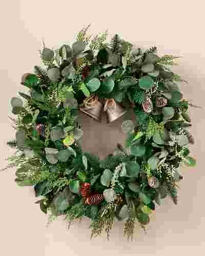 Outdoor Winter Eucalyptus Wreath by Balsam Hill SSC