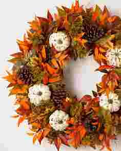 Fall Medley Wreath SSCR by Balsam Hill