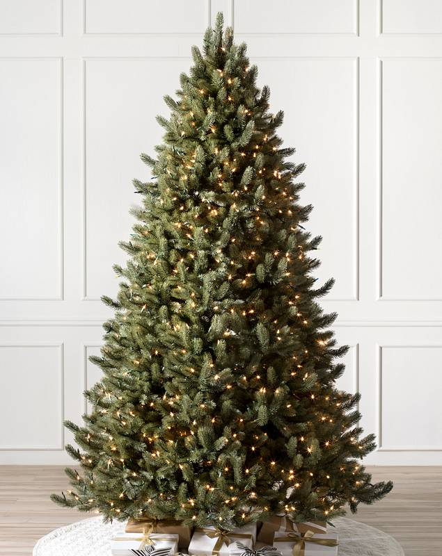 Vermont White Spruce Flip Tree by Balsam Hill Candlelight™ Clear LED Lights SSC