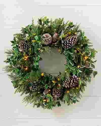 Outdoor Woodland Evergreen Wreath by Balsam Hill SSC