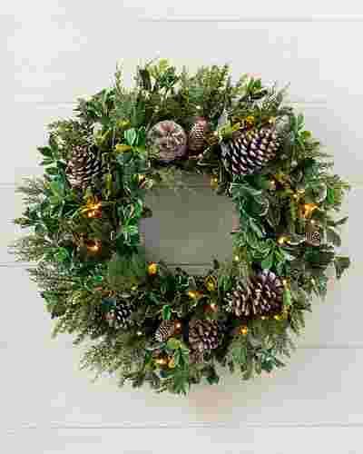 Outdoor Woodland Evergreen Wreath by Balsam Hill SSC