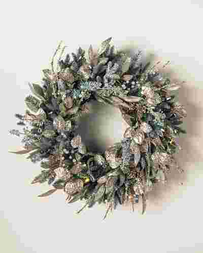 Nicole Miller Champagne Wreath by Balsam Hill SSC 10
