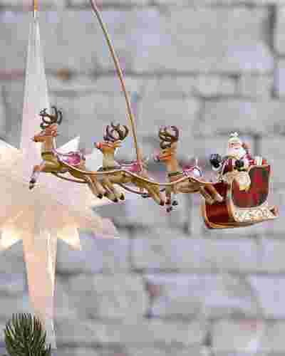 Santafts Sleigh Animated Christmas Tree Topper by Balsam Hill SSC 10