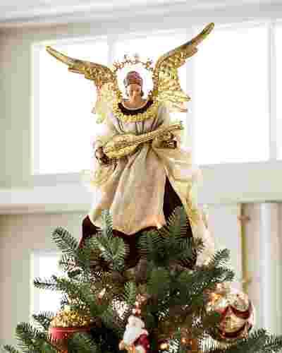 Noel Angel Christmas Tree Topper by Balsam Hill SSC 10