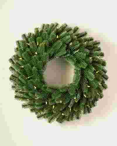 Nordmann Fir Wreath Child Main by Balsam Hill