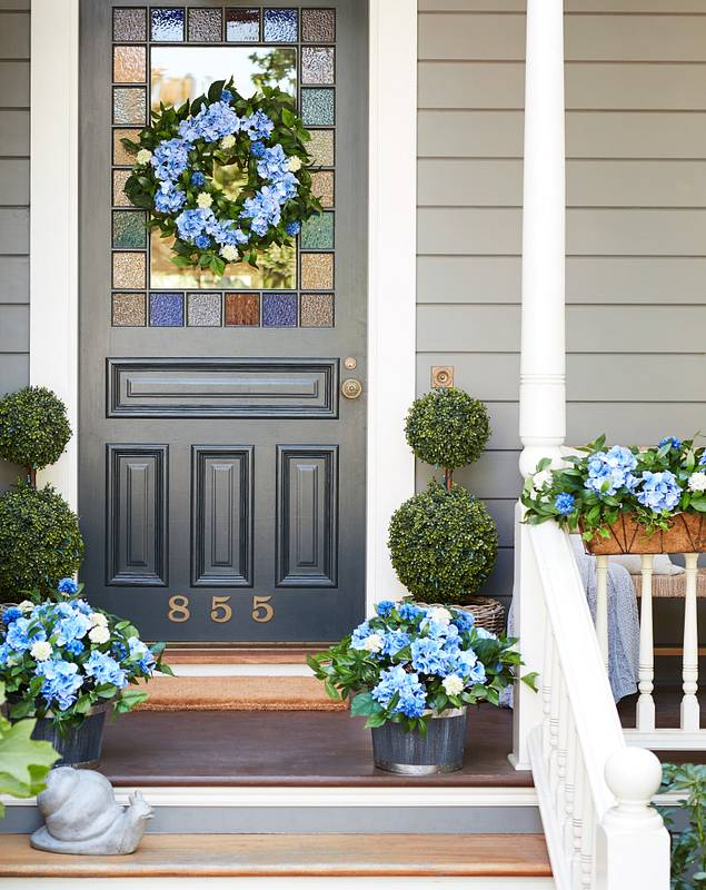 Outdoor Hydrangea Foliage by Balsam Hill Lifestyle 10