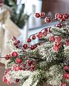 Red Berry Frosted Fraser Fir Foliage by Balsam Hill Blog 10