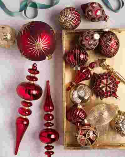Brilliant Bordeaux Ornament Set by Balsam Hill Lifestyle 10