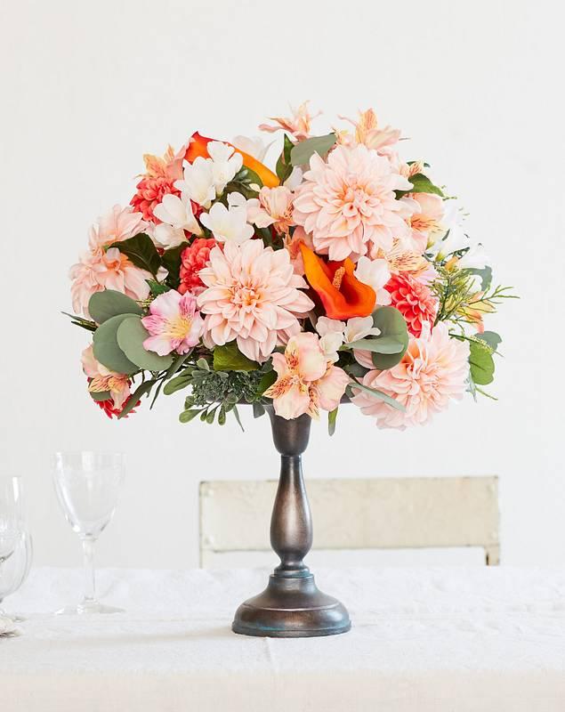 Peach Blossom Arrangement by Balsam Hill SSC 10