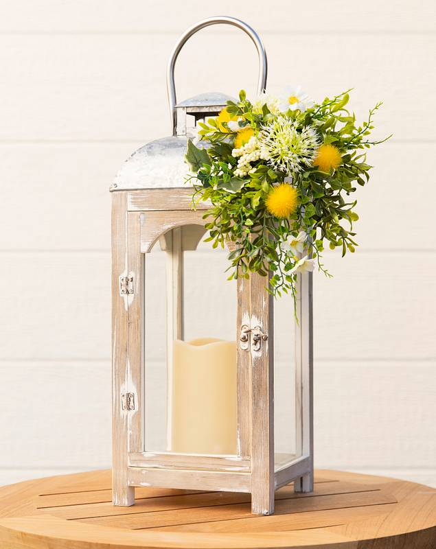 Hello Sunshine Lantern with Candle by Balsam Hill SSC