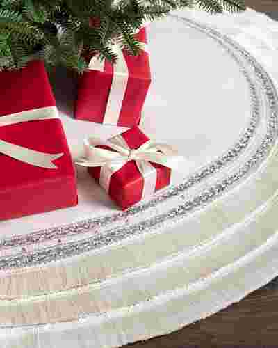 60in Plaza Fringed Tree Skirt by Balsam Hill SSC