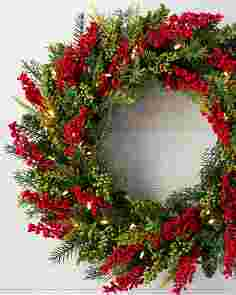 Outdoor Berry Burst Wreath by Balsam Hill