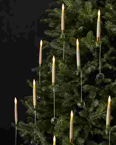 Crystal Drop LED Christmas Tree Candles by Balsam Hill SSC