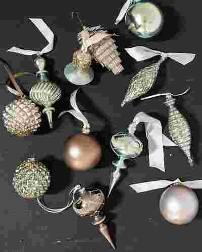 Winter Frost Glass Ornament Set (35 Pieces) by Balsam Hill SSC 10