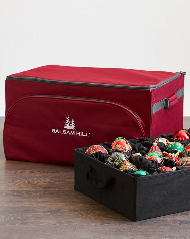 72-Piece Tiered Bauble Storage Bag by Balsam Hill