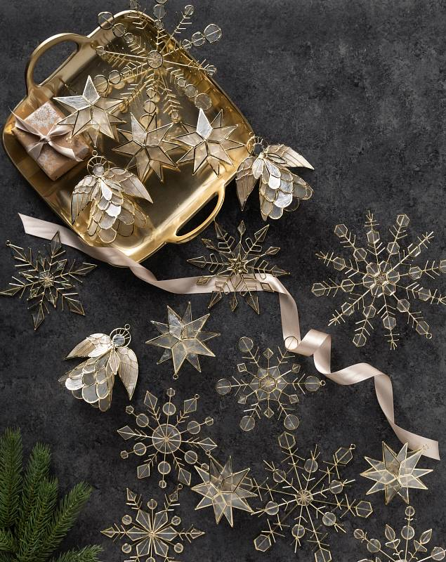Capiz Ornament Set by Balsam Hill