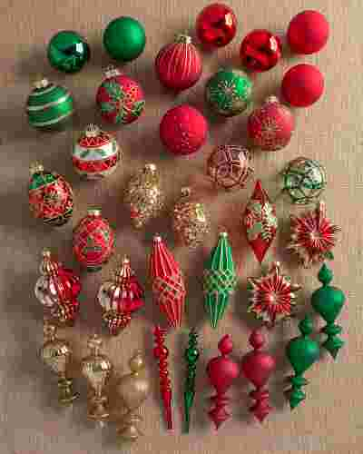 Christmas Cheer Ornament Set by Balsam Hill SSC 10