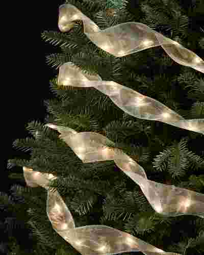 6.5ft Sheer Lit Ribbon by Balsam Hill SSC