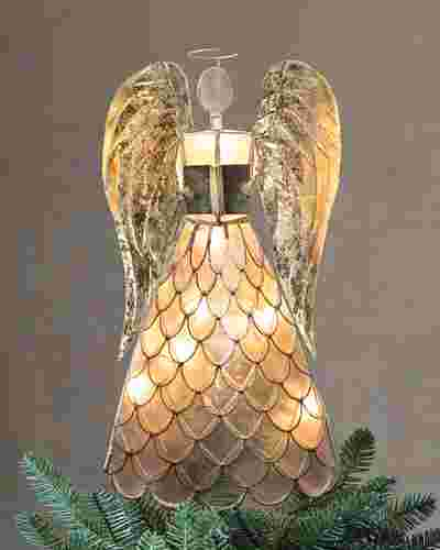 Capiz Angel Lighted Christmas Tree Topper by Balsam Hill Lifestyle 10