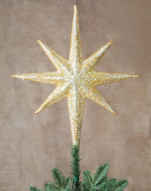 Large Bethlehem Star Beaded Christmas Tree Topper by Balsam Hill SSC 30