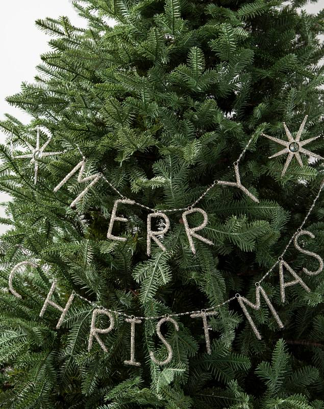 Beaded Merry Christmas Garland by Balsam Hill