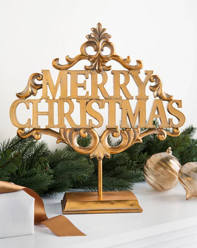 Merry Christmas Tabletop Sign by Balsam Hill