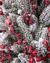 Red Berry Frosted Fraser Fir Foliage by Balsam Hill Detail
