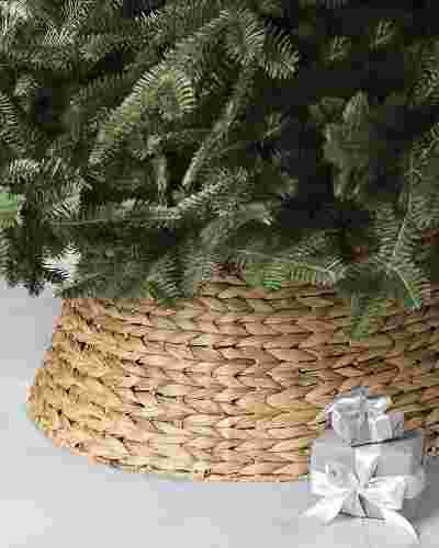 Light Brown Woven Tree Collar by Balsam Hill SSC 10