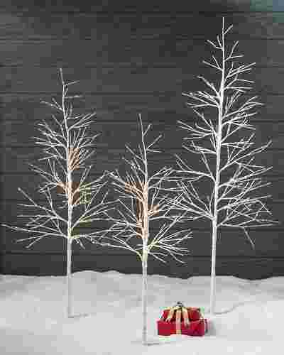 Indoor Outdoor LED Winter Birch Tree by Balsam Hill Lifestyle 10