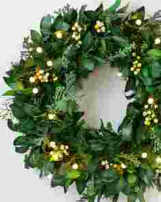 24in White Berry Cypress Wreath by Balsam Hill SSCR