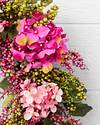 Outdoor Pink Hydrangea Berry Wreath by Balsam Hill Closeup 10