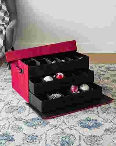 72-Piece Christmas Ornament Storage Box by Balsam Hill SSC 10