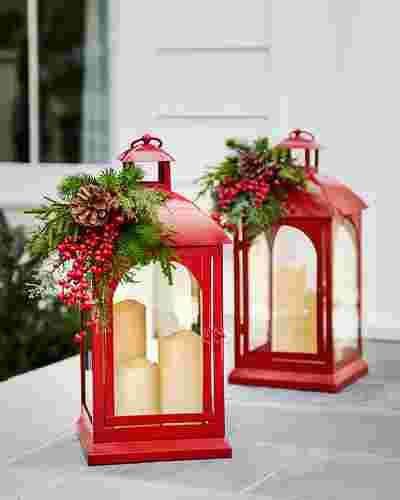 Holiday Lantern with LED Candles by Balsam Hill Lifestyle 30