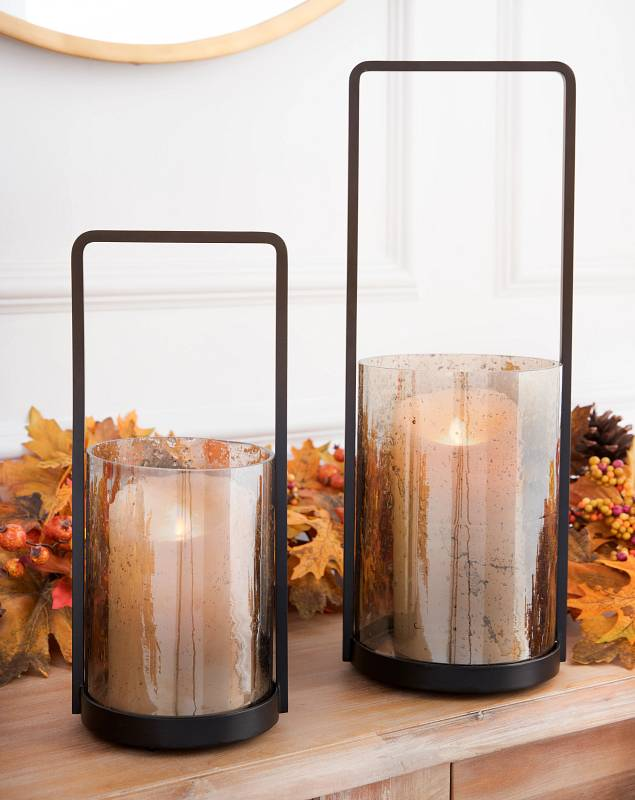 Glass and Iron Lanterns by Balsam Hill