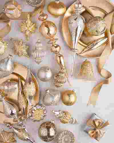 Silver and Gold Ornament Set by Balsam Hill Lifestyle 10