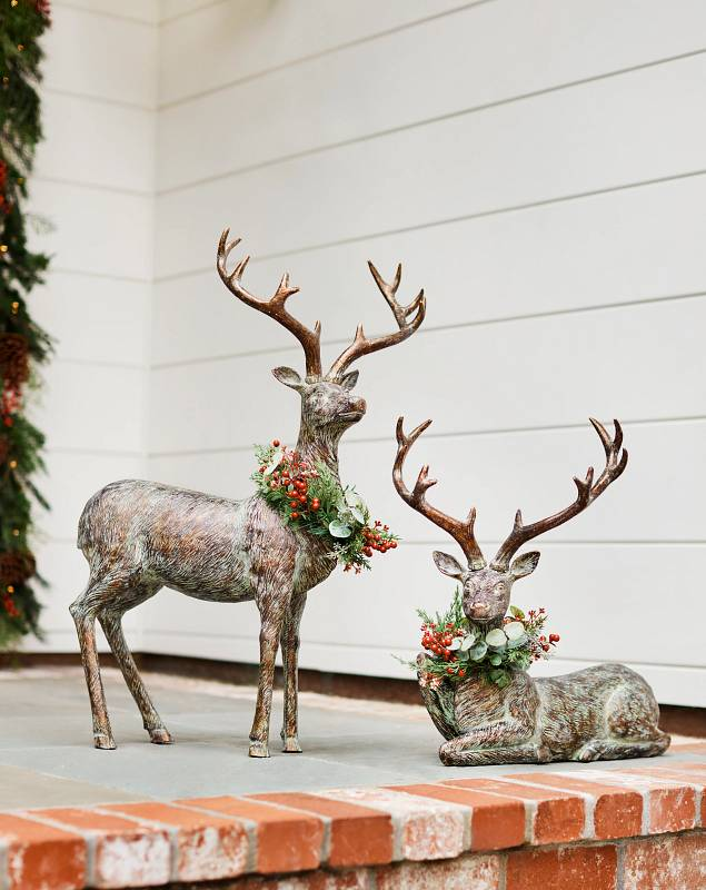Festive Antiqued Deer by Balsam Hill Lifestyle 10