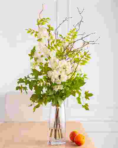 Ivory Cherry Blossom Floral Arrangement by Balsam Hill