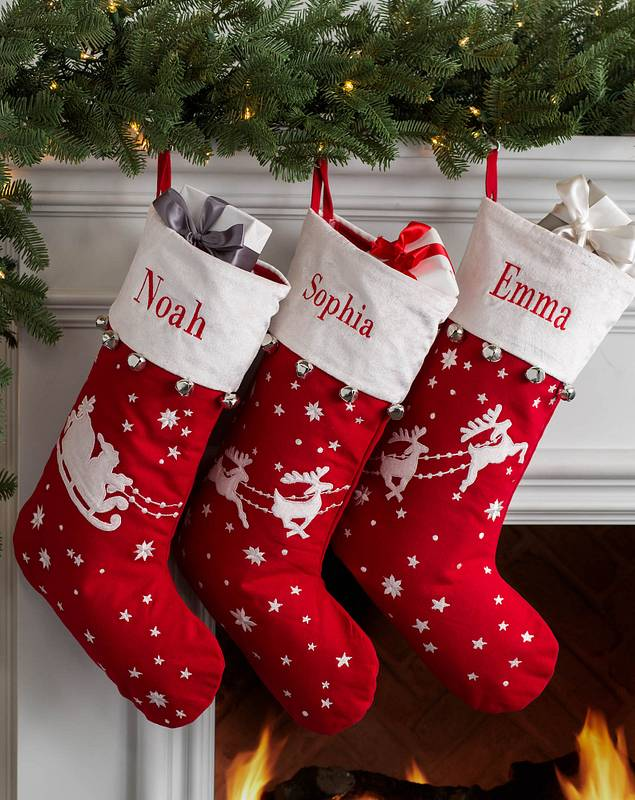 Dashing Through the Snow Stocking by Balsam Hill Lifestyle 10