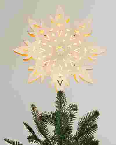 Wooden Snowflake Tree Topper by Balsam Hill