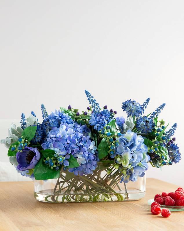 Rhapsody in Blue Floral Arrangement by Balsam Hill SSC