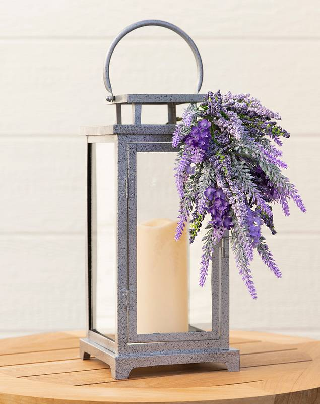 Provencal Lavender Lantern with Candle by Balsam Hill SSC