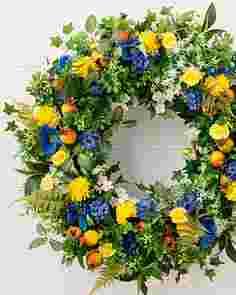 Outdoor Summer Breeze Wreath by Balsam Hill SSCR