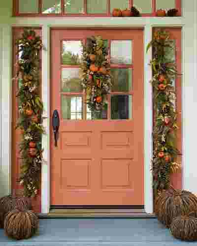 Autumn Abundance Artificial Wreath by Balsam Hill Lifestyle 10