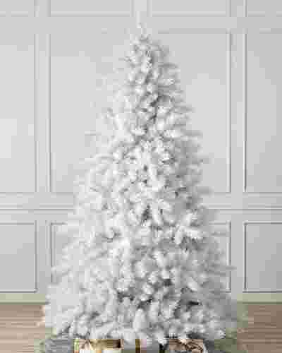 Classic White Christmas Tree Child Main by Balsam Hill