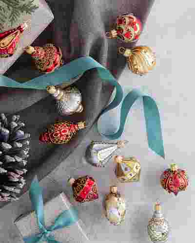 Mini Decorated Ornaments Set of 6 by Balsam Hill Lifestyle 10