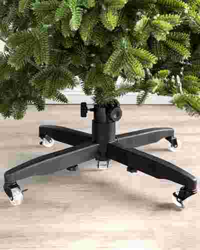 Adjustable Rolling Christmas Tree Stand by Balsam Hill