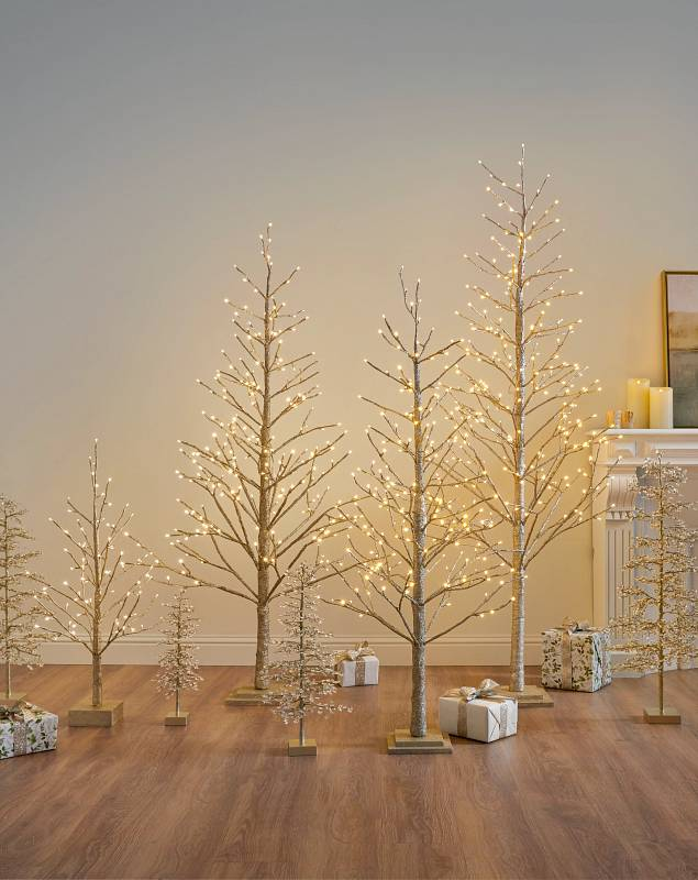 Champagne Glitter LED Tree by Balsam Hill Lifestyle 15