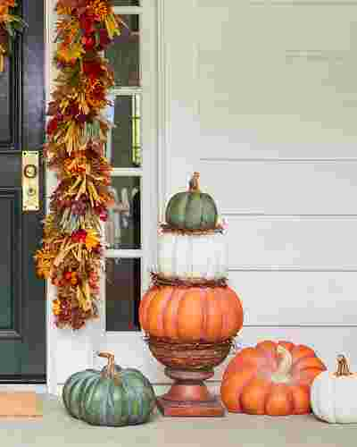 Outdoor Heirloom Pumpkins by Balsam Hill Lifestyle 10