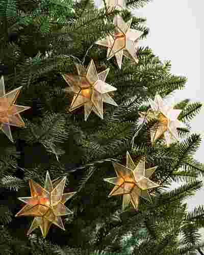 Capiz Star Lighted Garland by Balsam Hill
