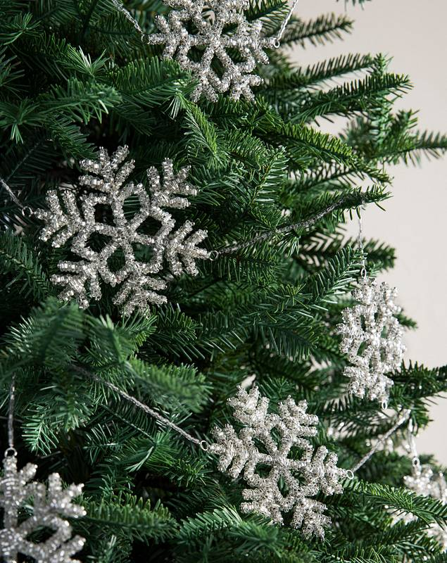 Beaded Snowflake Garland Set of 3 by Balsam Hill SSC